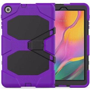 Image 2 - Противоударный чехол для планшета повышенной прочности для Samsung Galaxy Tab A 10,1 2019, T510, T515, искусственная кожа, мягкий силиконовый чехол, чехол