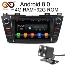 8″ Octa Core Android 8.0 4GB RAM 32GB ROM 3G/4G WIFI DAB BT Car DVD Multimedia Radio Stereo Player For MAZDA 5 Premacy 2009-2012