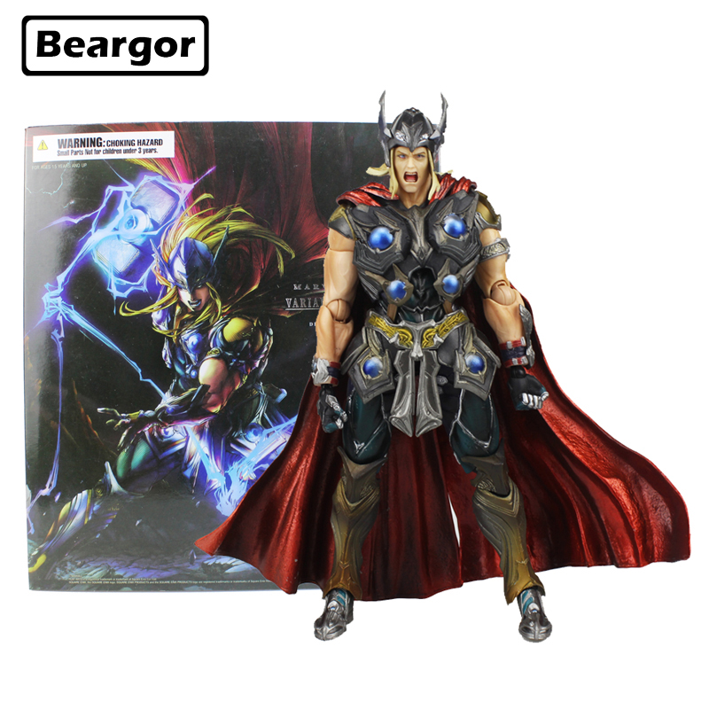 11 inch Marvel The Avengers Super Hero Thor PA KAI Ver. Boxed 27cm PVC Anime Action Figure Collection Model Doll Toys Gift halloween toy gift timeless sparta action figure collection 27cm pa spartan model doll movable decorations
