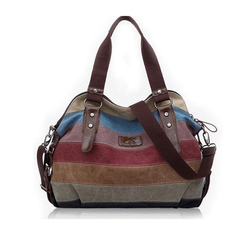 Prix pour 2015 Toile sacs à main top qualité femmes sacs à bandoulière designer totes épaule casual sac messenger sac couleur bloc grand totes