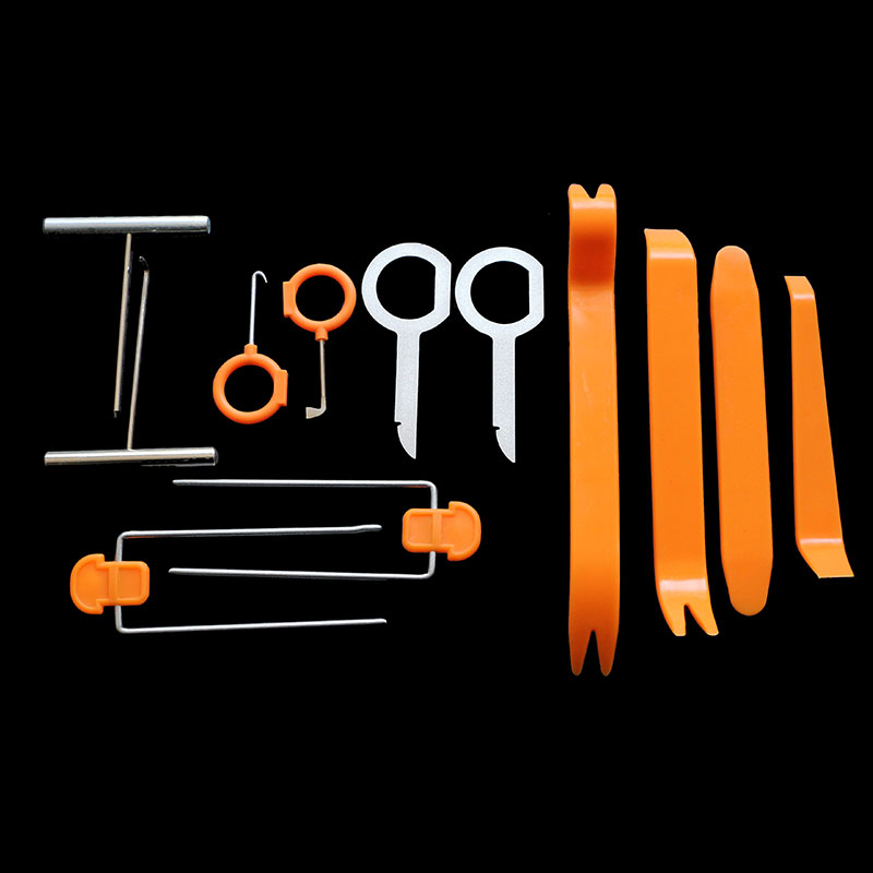12 Pcs/set Car Pry Repair Tool Disassembly Tool for SsangYong Actyon Turismo Rodius Rexton Korando Kyron Musso Sports 12 in 1 lock disassembly tool