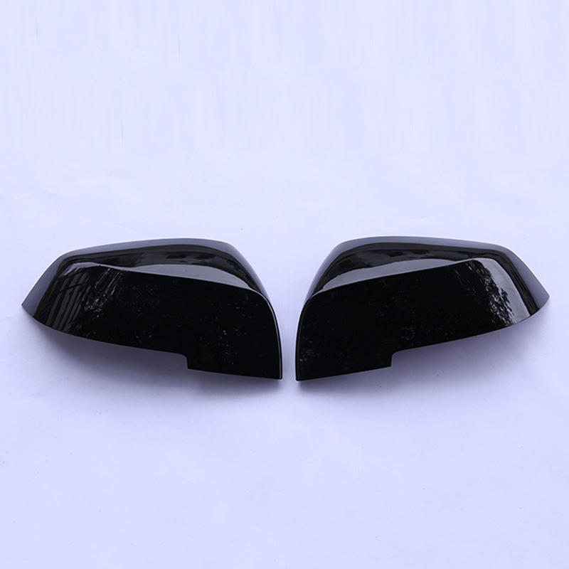 2pcs Car Side Rear Mirror Cover New Carbon Fiber Black Automobile Rearview Mirror Frame Covers Fit For BMW X2 F39 2017 2019