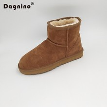 DAGNINO Brand  Hot Sale Women's Winter Warm Snow Boots 100% Genuine Cowhide Leather High Quality Ankle Boots Classic Woman Shoes hot sale brand 100