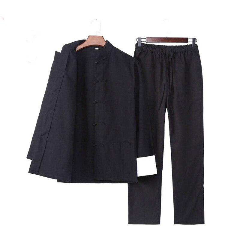 Umorden/комплект одежды с длинными рукавами, Брюс Ли Вин Чунь Тай Чи, китайский костюм Тан, одежда для кунг-фу, Униформа, пальто, брюки для мужчин