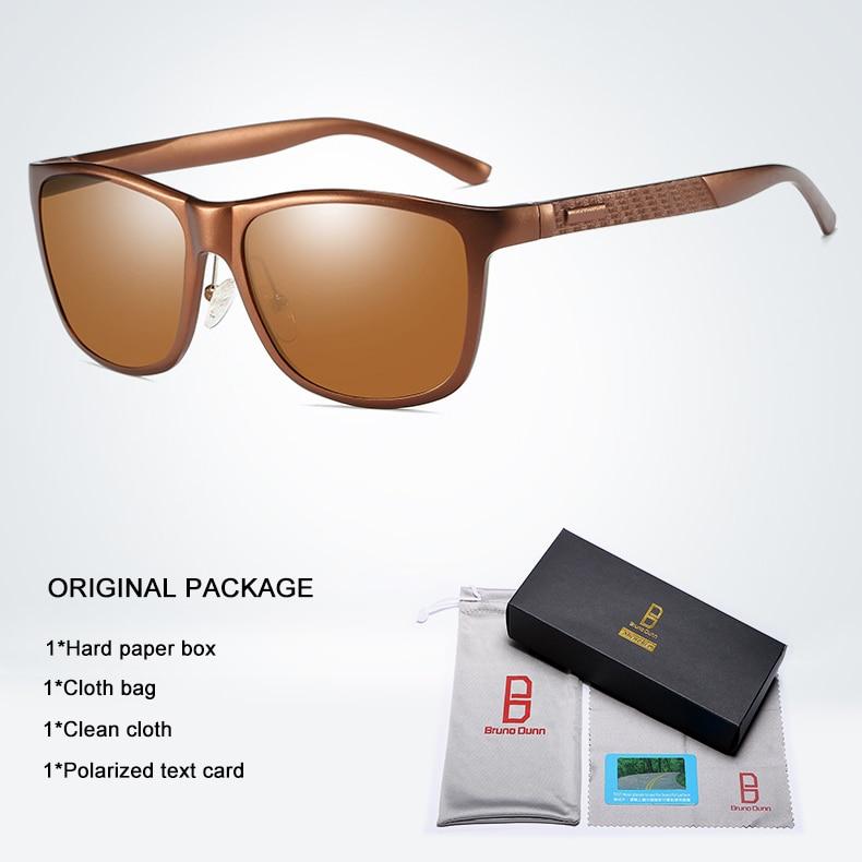 Bruno dunn Sunglasses Men Polarized 2020 Luxury Brand square metal frame male sun glasses oculos de sol masculino 2140 ray uv400 11