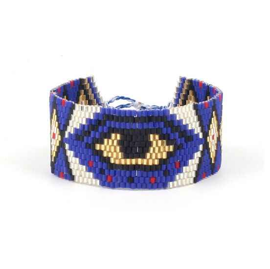 1pc Evil Eye Bracelets for Women MIYUKI Delicas Bead Loom Statement Bangles Bracelets Men Pulsera  8322-8323  	MG-B180004