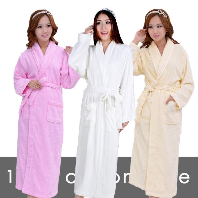 Artículo algodón 100% toweled albornoces bathoses albornoces de las mujeres masculinas