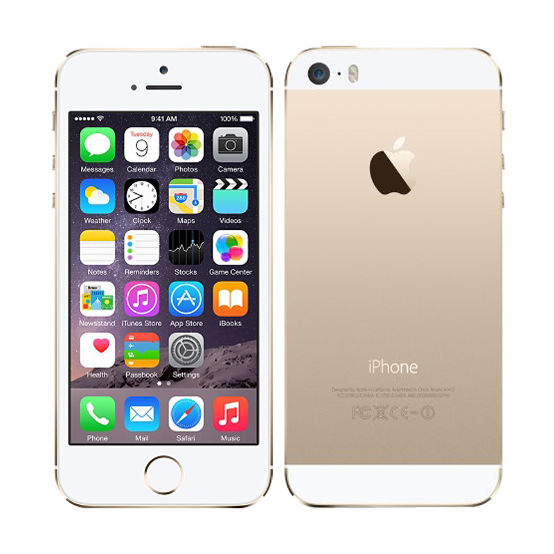 Apple iPhone 5S mobile phones Unlocked iOS 6 touch ID 4.0 16G / 32G ROM Dual core WiFi GPS 8MP Camera GPRS 3G LTE Fingerprint