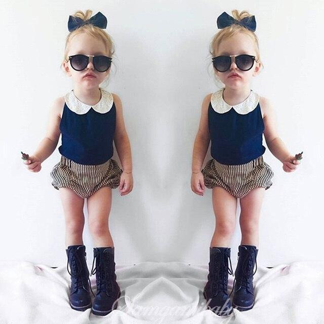 2016 Младенческая Девушка Одежда Летняя Детская Мода Набор Детская Одежда Девушка Милая Девушка Новорожденный Одежда Vestido Infantil