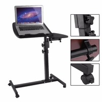 Laptop Portable Adjustable Vented Aluminum Folding Computer Table Stand Tray Bed Black Desktop Computer Table For