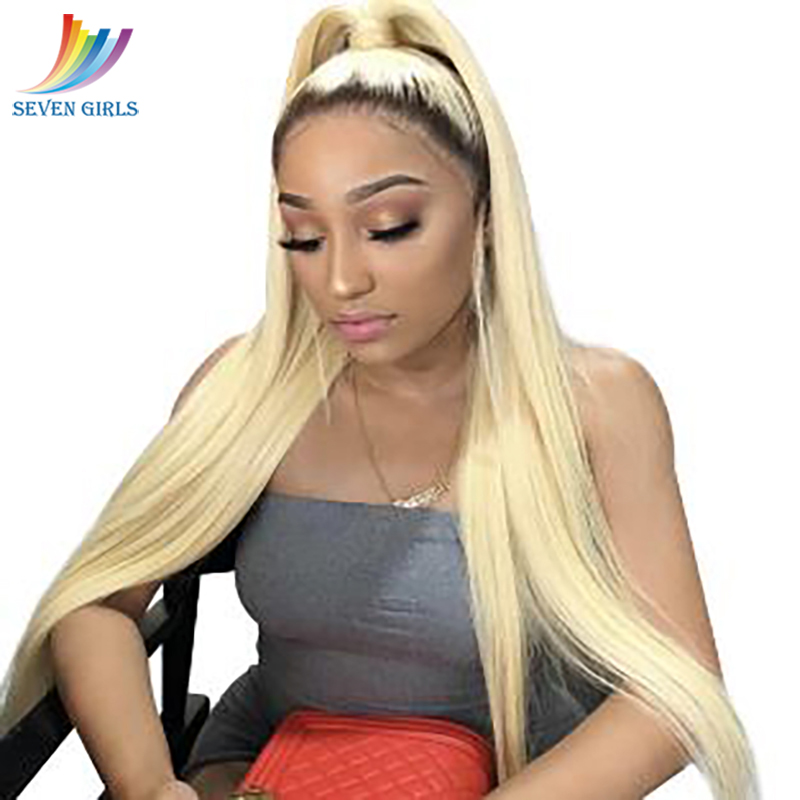 Sevengirls 2/613# Straight Pre Plucked Full Lace Human Hair Wigs With Baby Hair Malaysian Ombre Full Lace Wig 8-30 Free Shipping image