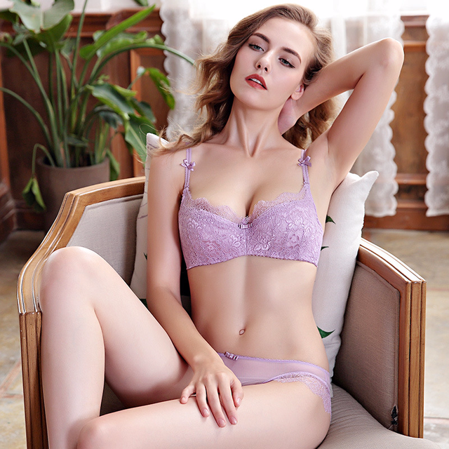 Europe Women Sexy Underwear Ultra Thin Bra Set Comfortable Bra Panty Set  Sexy Girl Bra Sets Plus Size Breathable Lingerie 4812a0fde