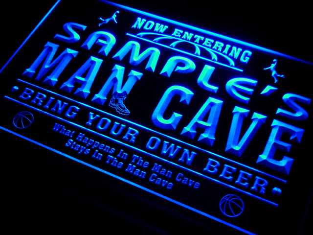 qc tm Name Personalized Custom Man Cave Basketball Bar