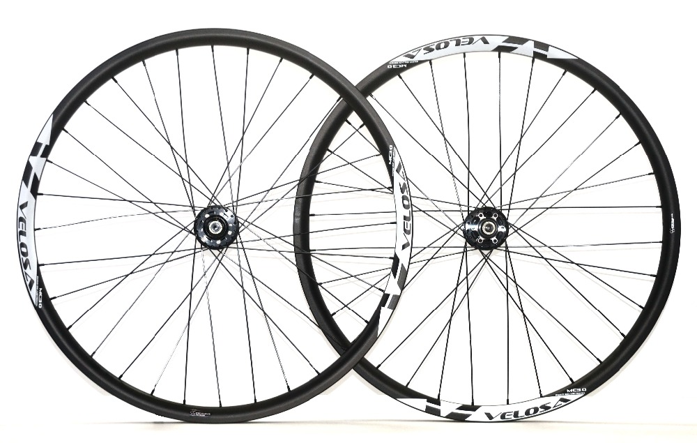 VELOSA!29ER XC racing carbon wheels Hookless 27mm width 25mm depth Cross-Country MTB bike carbon wheelset Tubeless ready  32/32h racing wheels h 480 7 0 r16 4x114 3 et40 0 d67 1