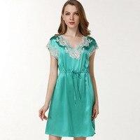CEARPION Для женщин Sleepdress свадебное платье невесты или подружки невесты шелковая ночная рубашка пикантные v образным вырезом кружева летние шо