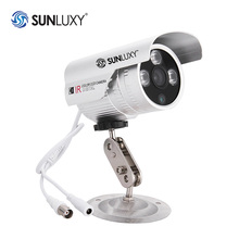 "SUNLUXY 1000TVL PAL Bullet CCTV Camera Pan/Tilt 1/3"" CMOS 3 LEDs Waterproof IR-Cut Night Vision Home Security Cam BNC Connector"
