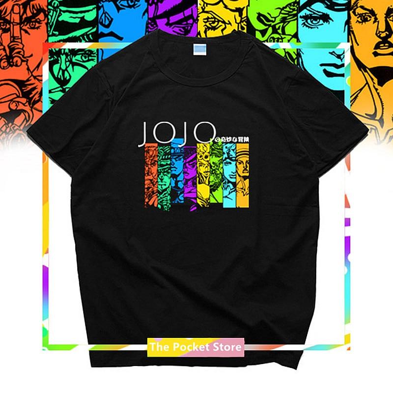 100% Wahr Jojos Bizarre Adventure Frauen 100% Baumwolle T-shirt Kujo Jotaro Harajuku Streetwear Anime Paar Kleidung T-shirt Liebhaber Tops 3xl Elegant Im Stil
