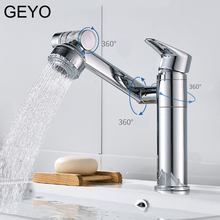 GEYO Kitchen Faucet 360 Rotating Washbasin Hot And Cold Faucet Single Hole Mixer Basin Faucet Tap Bathroom Counter Basin Copper copper single hole tap multifunctional rotary type cold hot mixing faucet kitchen pot faucet