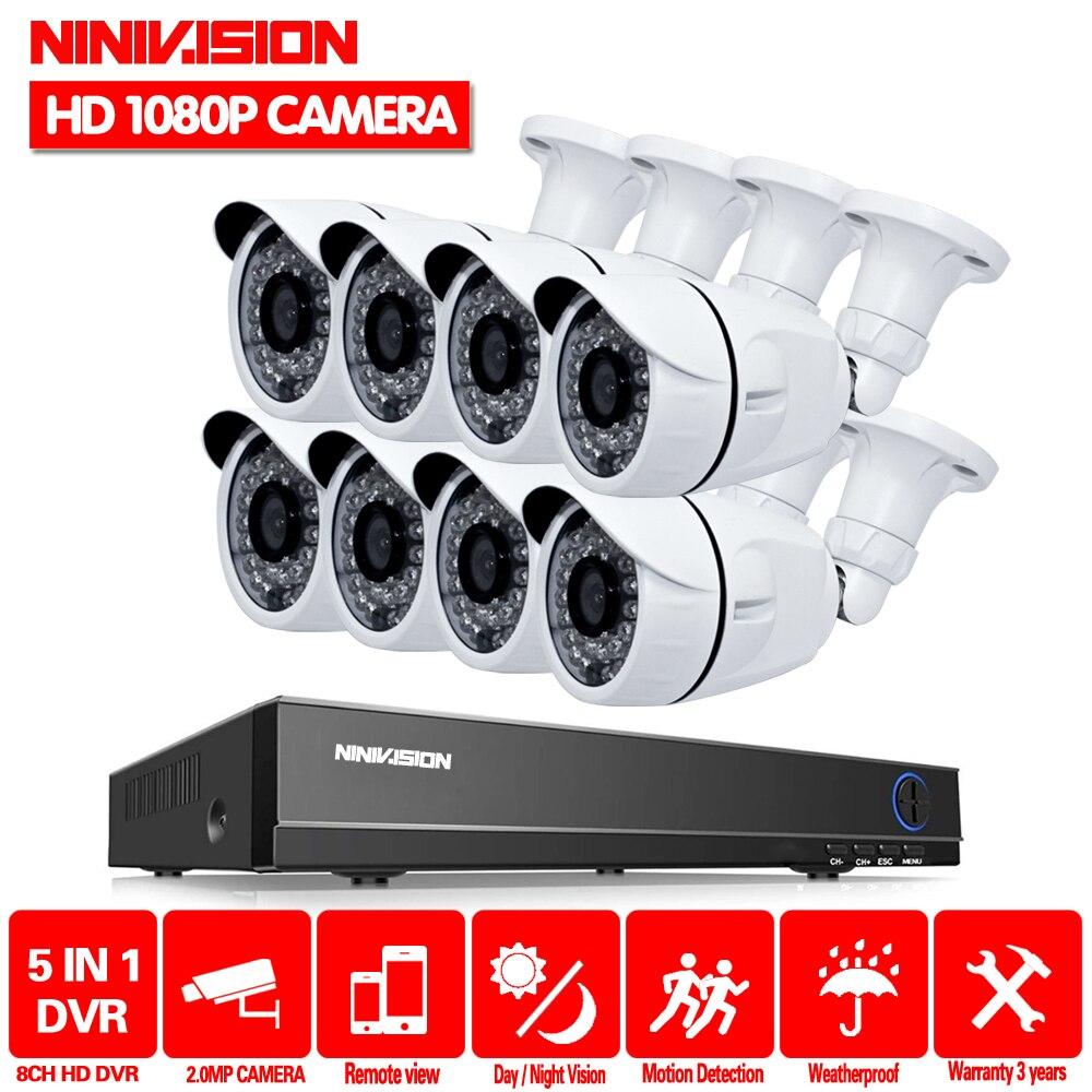 Full HD 1080 P 3000TVL CCTV système de sécurité 8CH 1080 P AHD DVR kit 8*2 mp En Plein Air vidéo surveillance caméra de sécurité kit WIFI DVR