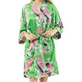 New Arrival Green Chinese Women Silk Rayon Mini Robe Sexy Kimono Bath Gown Charming Intimate Lingerie Pajama S M L XL XXL XXXL