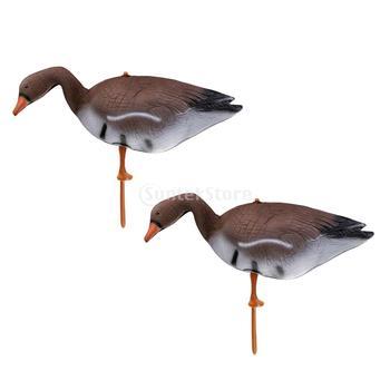 2 Pcs Lifelike Full Body Goose Hunting Decoys Lawn Yard Decor Hunter Greenhand Gears Full Body Goose Hunting Decoy ru aliexpress com мотоутка