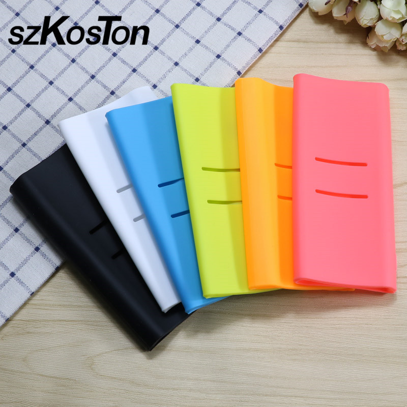Silicone Protector Case Cover For <font><b>Xiaomi</b></font> <font><b>Mi</b></font> <font><b>Power</b></font> <font><b>Bank</b></font> <font><b>20000mah</b></font> <font><b>2C</b></font> Dual USB Port Rubber Case For <font><b>Xiaomi</b></font> Powerbank <font><b>20000mah</b></font> <font><b>2C</b></font> image