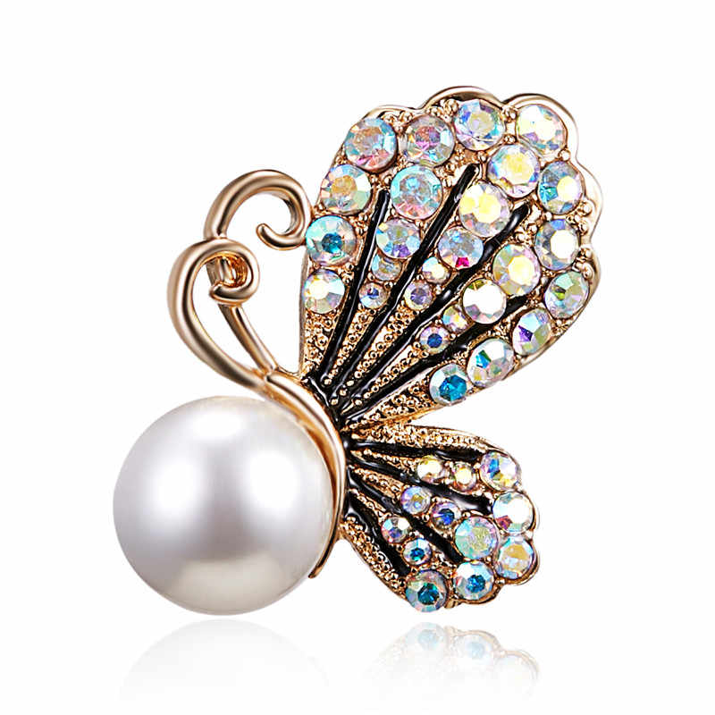 d0554fa0e43 Fashion Animal Butterfly Simulated Pearl Bee Pin Brooch Antique Pin Women  Brooch Pin Costume Jewelry Bee