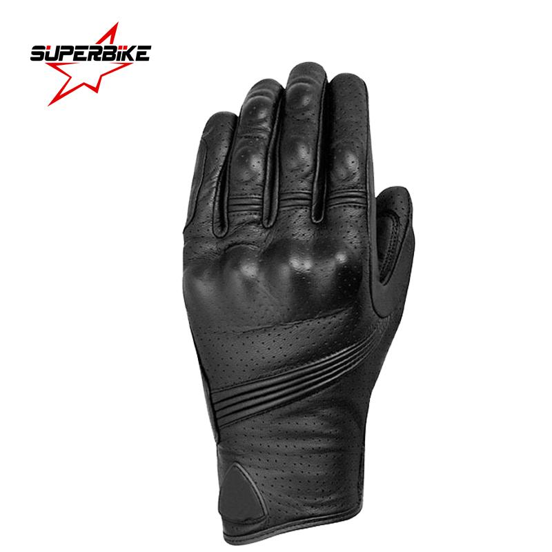 Prix pour Moto gants tactile écran en cuir de chèvre hommes en cuir gant vélo racing full finger moto moto vélo vélo motocross luvas