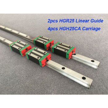 2pcs 25mm HGR25 - 850 900 950 1000 1050 1100 + 4pcs HGH25CA or HGW25CA linear block carriage CNC parts