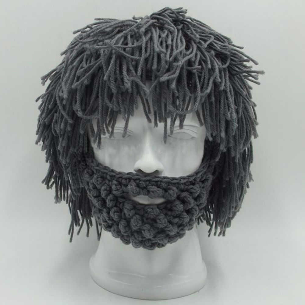 8db299a7557 Detail Feedback Questions about BBYES Cool Gifts Beard Hats Handmade Knit  Warm Caps Halloween Funny Party Beanies for Mad Scientist Caveman Men Women  New ...