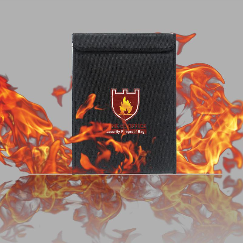 High Temperature Resistant Silicone Fireproof Envelope Shape Ddocument Bag 28*38cm R20