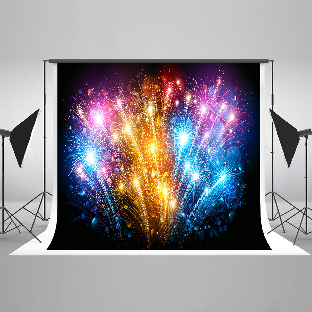 Kate Happy New Year Photography Backgrounds Colorful Firecracker Newborn Photography Backdrop Photo Background Fashion 2018
