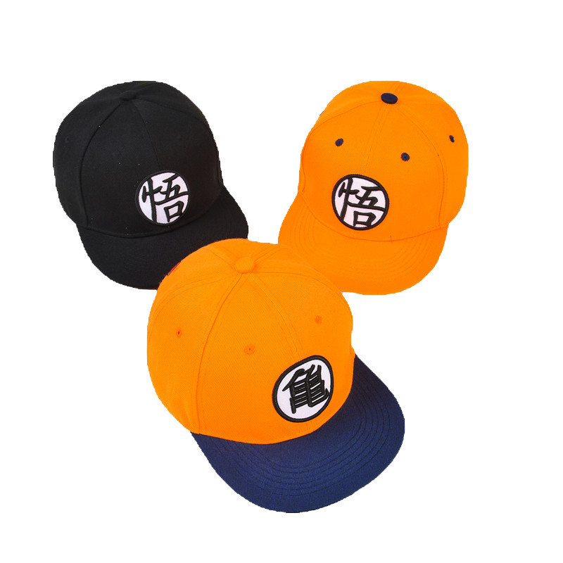 Dragon ball Cosplay High Quality Dragon ball Z Goku Hat Snapback Flat Hip Hop Caps Toy For Kids Birthday Gift For Boys