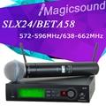 J3: 572-596Mhz / L4: 638-662Mhz !! SLX SLX24/BETA58 High Quality Single Handheld Wireless Microphone UHF Vocal Mic System