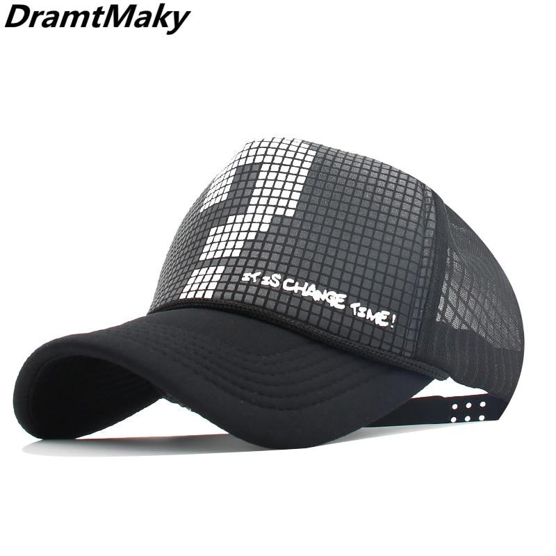 Gorras Baseball Hat Unisex Outdoor Hip Hop Caps Breathable Mesh Cap Sun Trucker