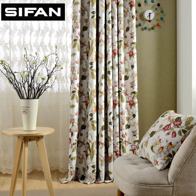 Exceptionnel European Fancy Printed Blackout Curtains For Living Room Modern Curtain For  The Bedroom Elegant Window Curtains