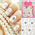 3 UNIDS Hot2016 Nueva Transferencia Nail Art Stickers Decals ArrivalWater Flying Dandelion Seed DIY Belleza Decoraciones 7D84