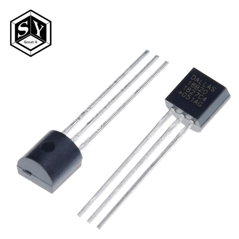 Image 3 - 100pcs/lot Sensor Electronic chip DS18B20 TO 92 18B20 chips Temperature Sensor IC 18b20 diy electronic-in Sensors from Electronic Components & Supplies