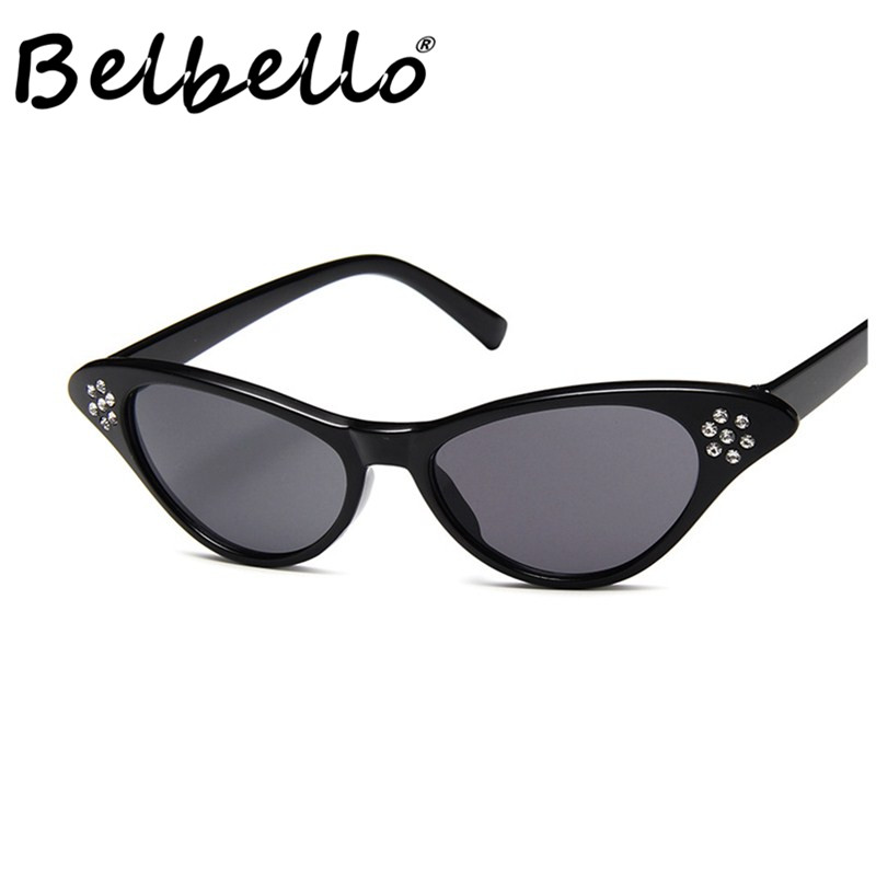 Belbello Transparent Sunglasses Women Color Solid Fashion Model Popular Trend Characteristic Crystal Men