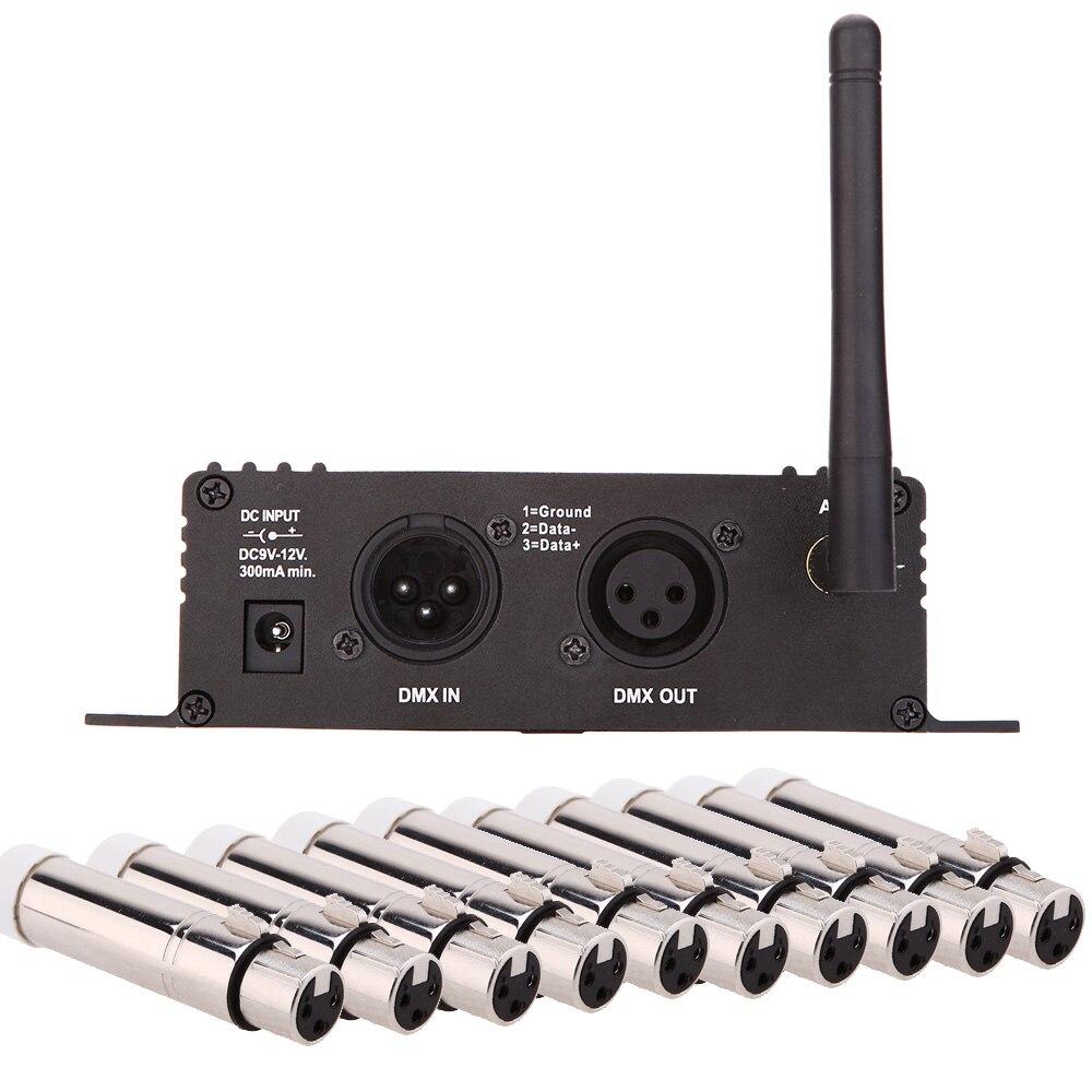 2,4 г Ism 126 Каналы 400 м Диапазон Dmx512 Беспроводной приемник передатчик 2in1 ЖК-дисплей Дисплей повторителя DMX512 светодио дный Контроллер освещения