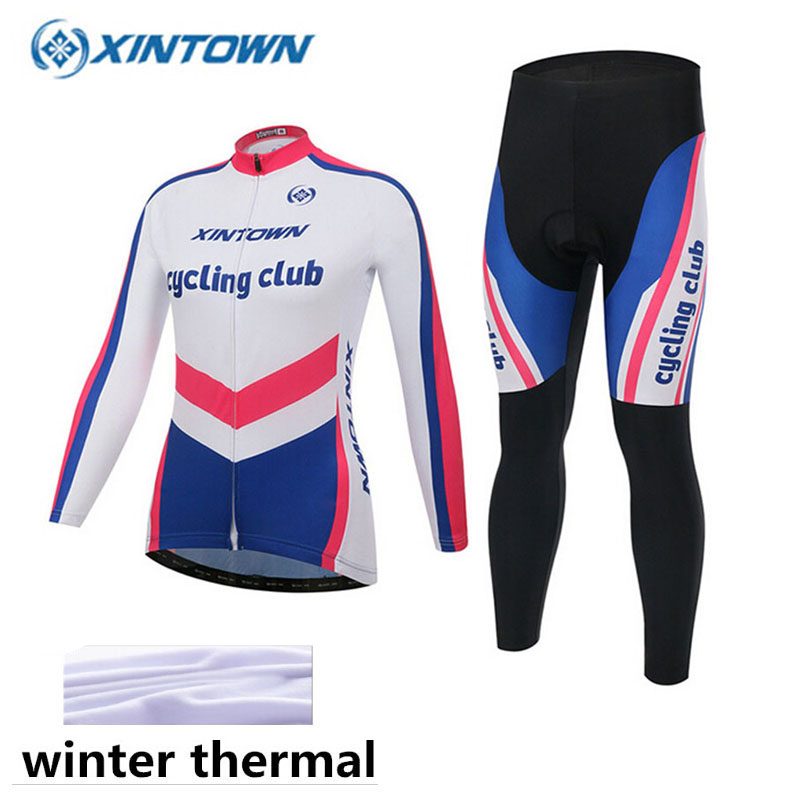 2017 New Winter Thermal Fleece Cycling Clothing Racing Bicycle Wear Maillot Invierno Ropa Ciclismo Women MTB Bike Jersey цена 2016
