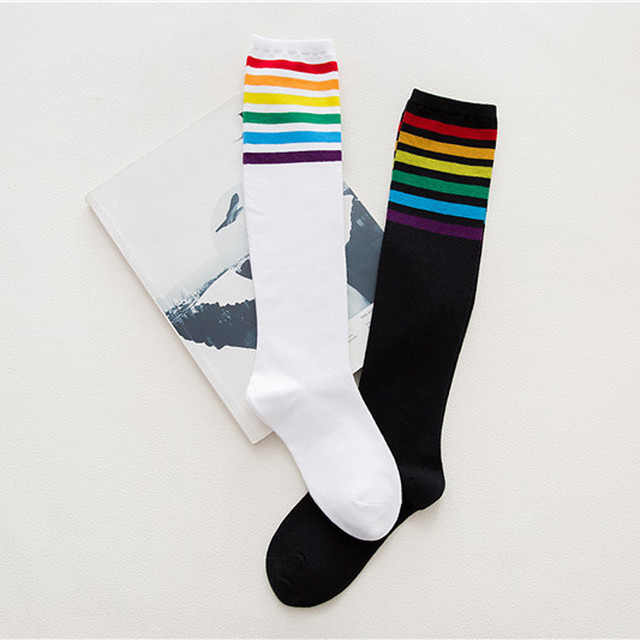 Women's Long Striped Socks
