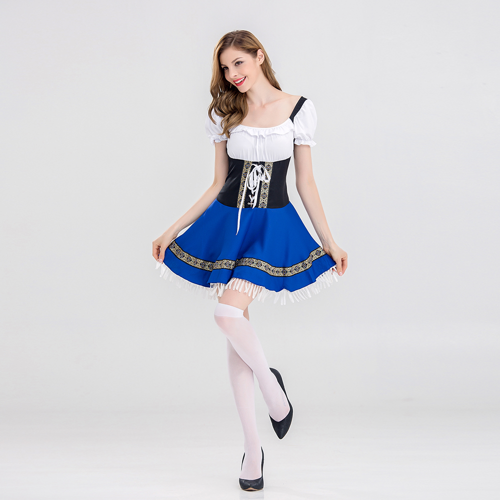 Ladies Germany Bavarian Beer Maid Cosplay Adult Wench German Oktoberfest Holiday Dress Sexy Halloween costumes for women