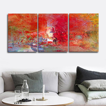 Laeacco Abstract 3 Panel Watercolor Posters and Prints Graffiti Paint On Canvas Painting Wall Art Living Room Home Decoration