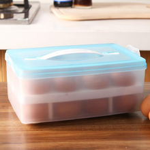 Portable egg box Egg refrigerator pack egg case  Double layers eggs preservation storage boxes 24case 24.5*15.7*9.5cm