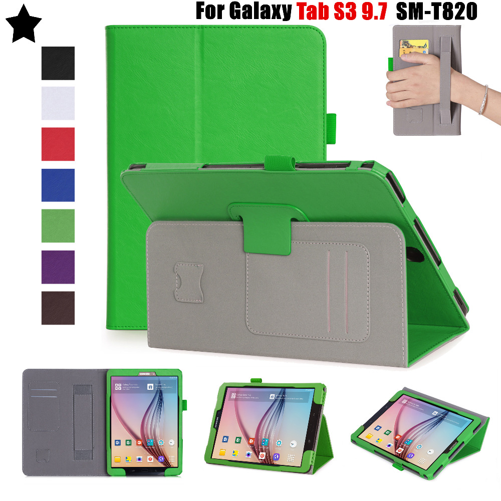NEWCOOL Flip Cover Leather Case For Samsung Galaxy TAB S3 9.7 SM-T820/t825 T829 Tablet Case Protective shell +Film tablet case for samsung galaxy tab a 10 1 p585 flip leather case cover slim protective stand shell case for samsung sm p585 skin