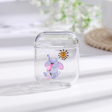 Elephant Transparent  Cases For AirPods Case Cute Cartoon Pattern Protective Cover Bluetooth Wireless Earphone Airpods