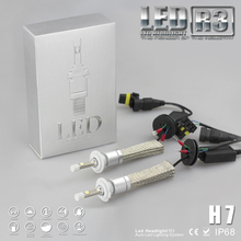 R3 9600lm Brillante estupendo H7 Xenon Blanco 6000 K Del Coche LED Kit de Conversión de Faros Cree 4800lm XHP-50 Bombilla