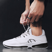 Breathable sneaker Shoes Korean Version of The Trendy Young Men's Shoes with A Variety of Students Leisure Shoes White 4