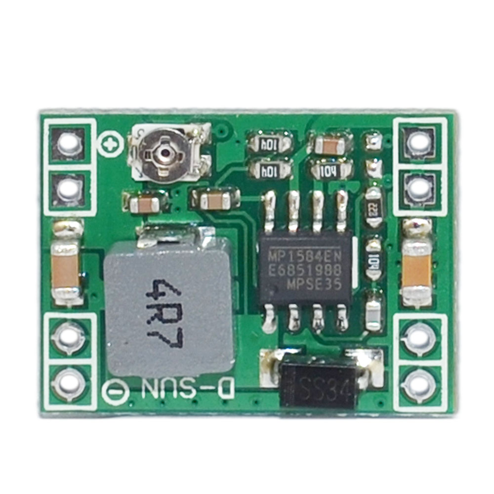 KEYES MP1584EN Ultra Small DC-DC 3A Power Step-Down Adjustable Module Buck Converter 24V 12 V 9V Convert To 5V For Arduino